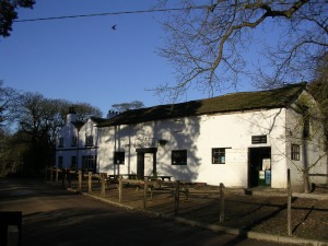 The National Trust information centre at the carpark for Alderley Edge